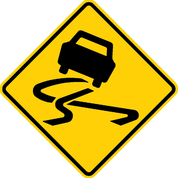 Slippery_road_surface_sign