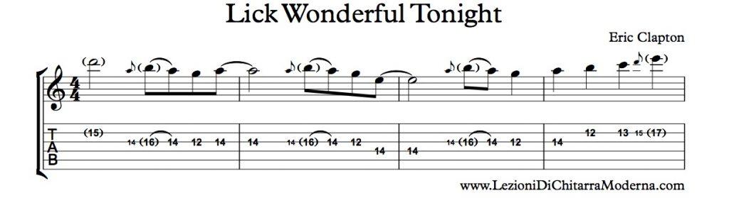 Wonderful Tonight Lick Per Chitarra